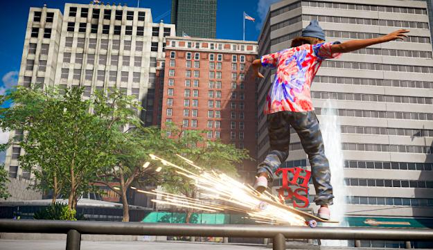 Tony Hawk's Pro Skater 1 + 2 city scene