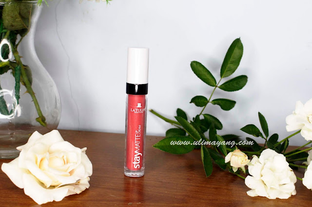 review-lipstick-lip-cream-latulip-no-03-orange-pink-bagus-lokal-cantik-murah