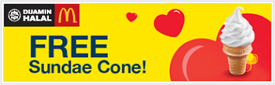 MyDigi App Rewards Offer Free McDonald's Sundae Cone Ice Cream