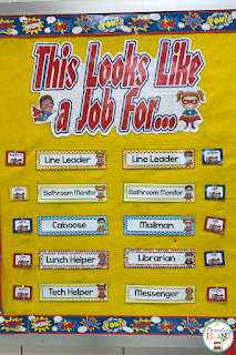 Classroom jobs will help with routines