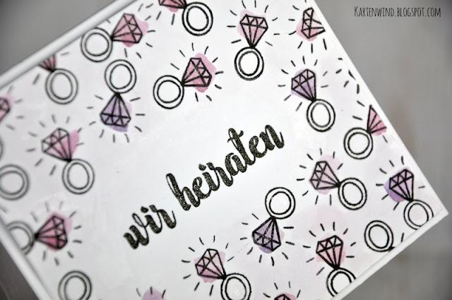 http://kartenwind.blogspot.com/2016/09/hochzeitskarte-mit-klunker-wir-heiraten.html