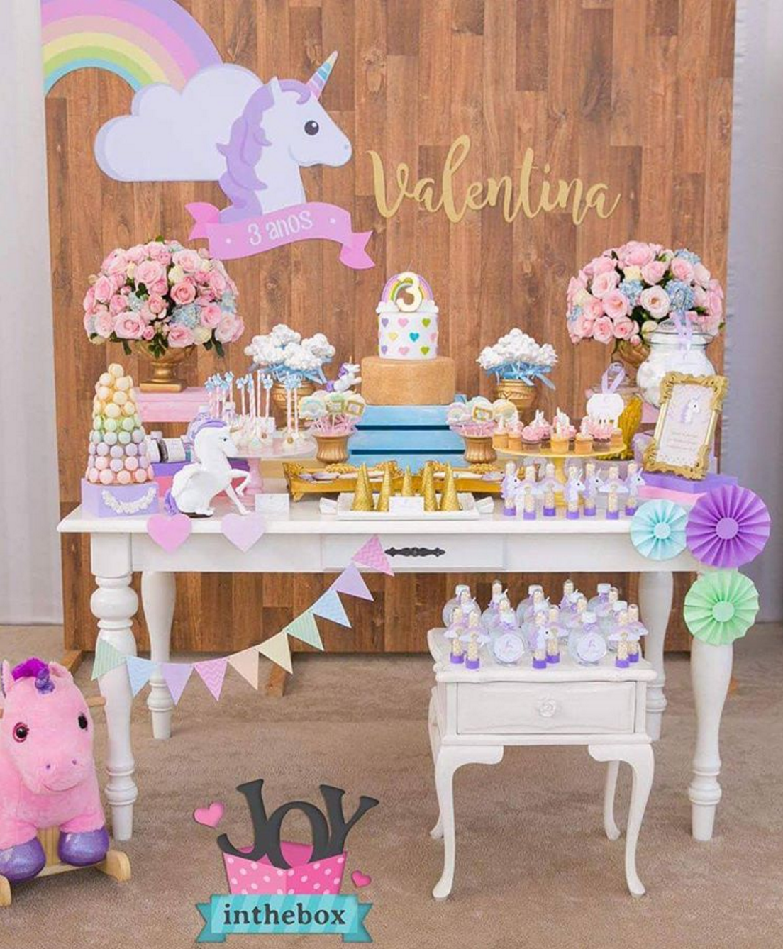 Ideas para decorar tu fiesta de unicornio for Diseno de mesa de unicornio