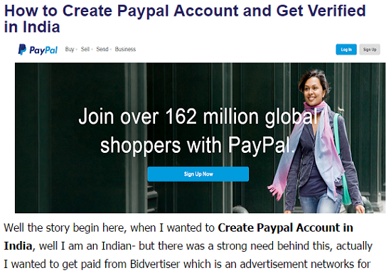 Paypal India, Verified Paypal Account