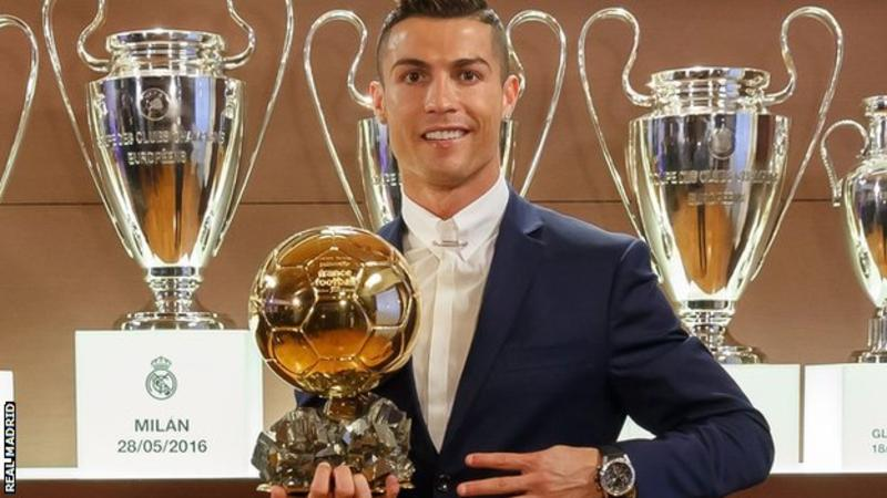 Real Madrid Star Cristiano Ronaldo Beats Messi To Wins Ballon D'or 2016 Award