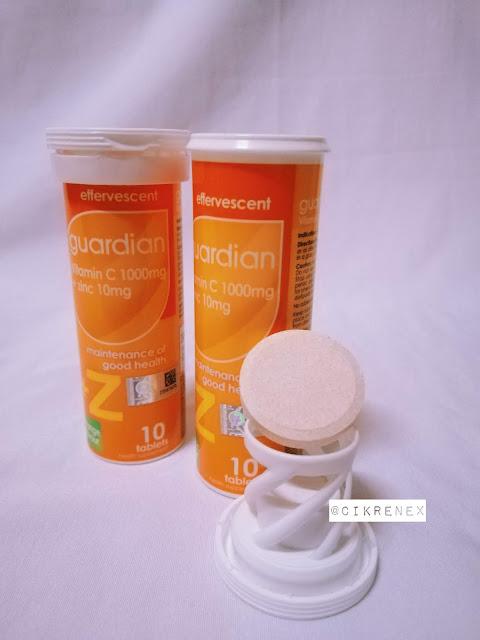 Cabaran Guardian Vitamin C + Zinc #FizzWithMe Menggalakkan Penjagaan Kesihatan