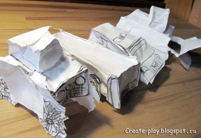 Машинки из бумаги своими руками