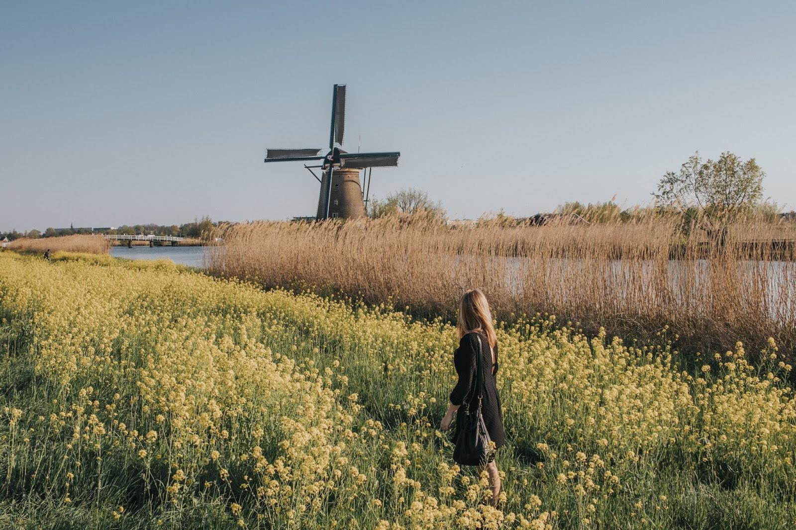 Suz and the Sun travel, Kinderdijk windmills, Kinderdijk UNESCO, Spring style, Suz and the Sun style