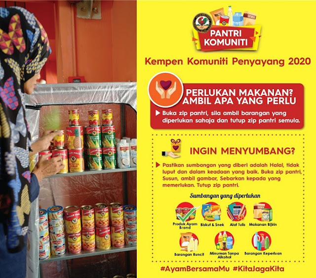 #AyamWithYou Food Pantry, Ayam Brand, Ayam Brand Food Pantry,  Take What You Need, Leave What You Can, Covid-19, CSR, Anjung Singgah, Pertubuhan Kebajikan Kasih Nurul Hasanah, Food