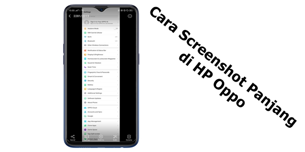 Cara Screenshot Panjang di HP Oppo
