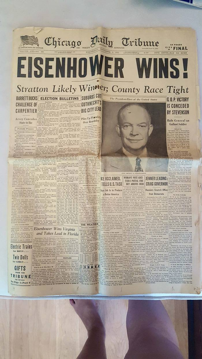 Eisenhower elected - 1952.