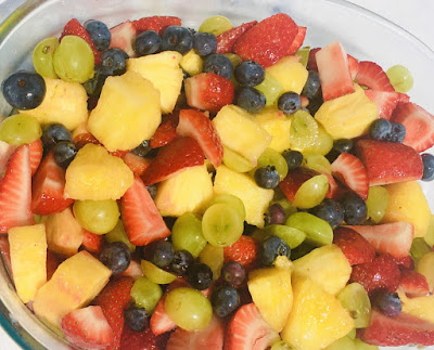 Fruit Salad with Gingerale syrup
