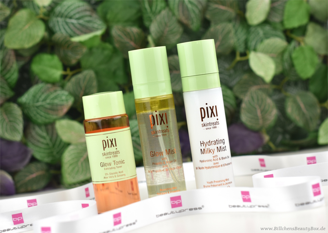 beautypress News Box August 2017 - Pixi Glow Tonic, Glow Mist, Hydrating Milky Mist