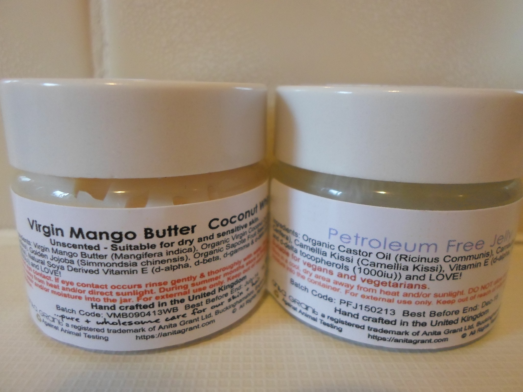Review Anita Grant Virgin Mango Butter Coconut Whip
