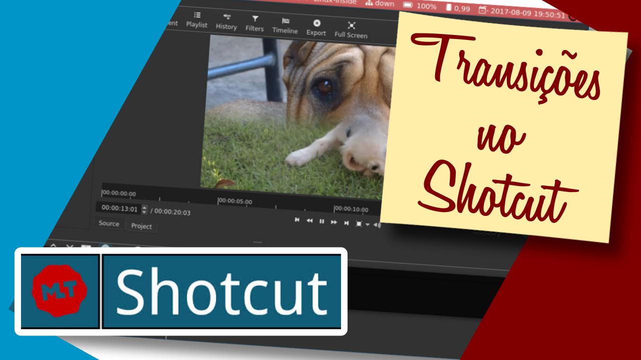 Criando transições com o Shotcut