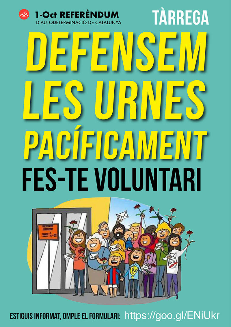 Defensem les urnes pacíficament