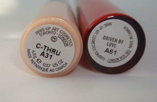 Mac C-Thru & Driven by Love LipGloss