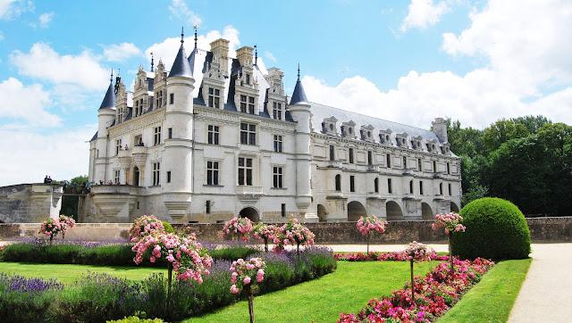 Castillo Chenonceau en el Valle del Loira
