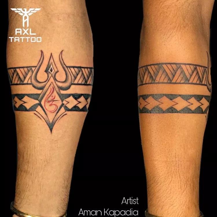 Mahakal Arm band Tattoo Design Ideas