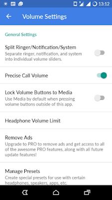 تطبيق Precise Volume لرفع صوت هاتفك الى اقصى درجة