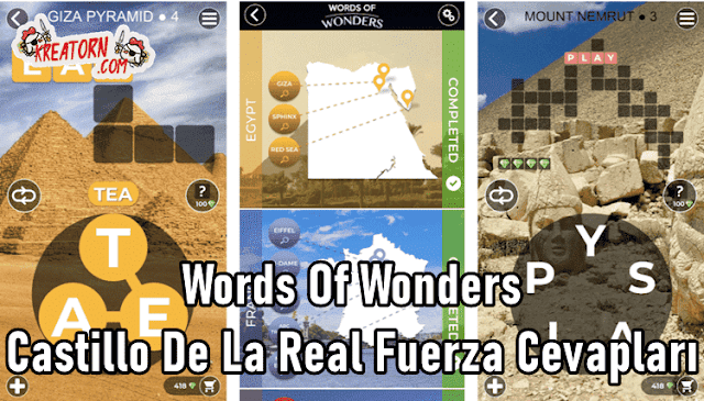 Words-Of-Wonders-Castillo-De-La-Real-Fuerza-Cevaplari