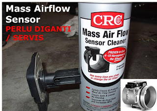 Mass Airflow Sensor (MAF) perlu diganti