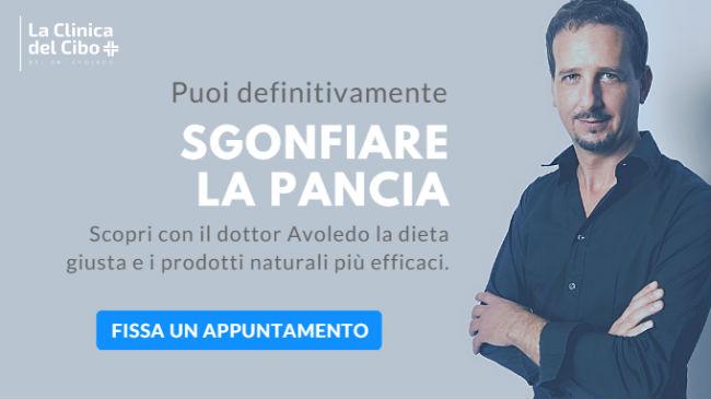 La dieta contro il gonfiore addominale del dottor Luca Avoledo