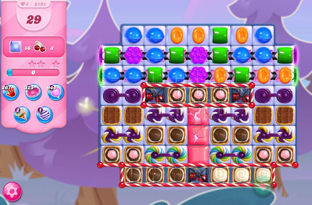Candy Crush Saga level 8191