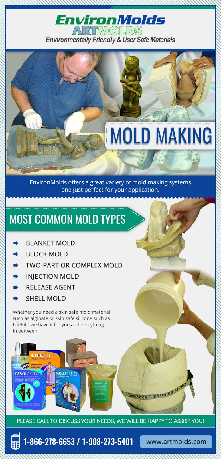 Mold making and Casting products through EnvironMolds, LLC