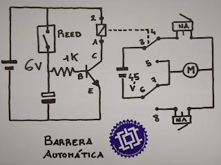 circuito, barrera, parking