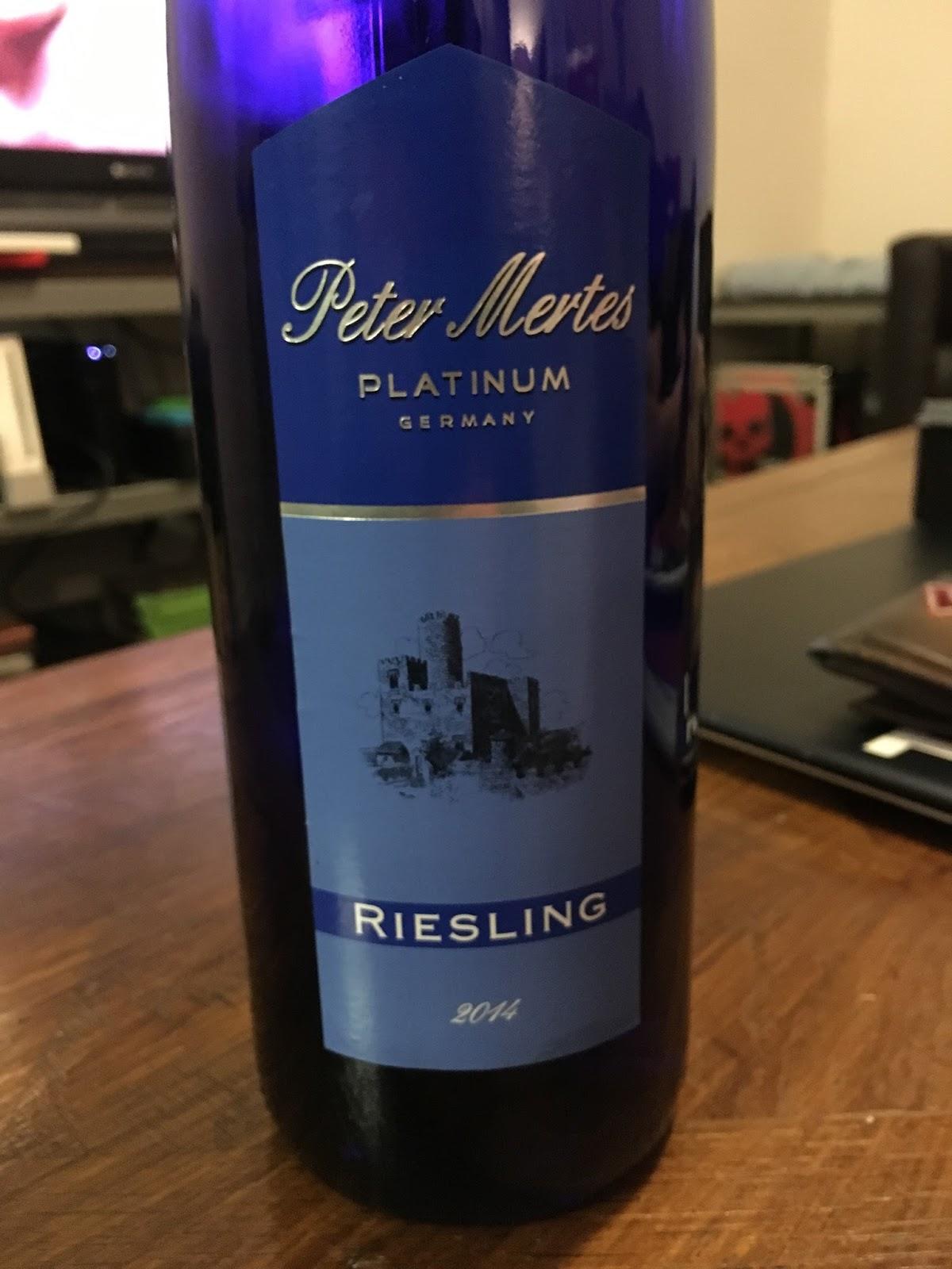 Tasting Peter Mertes Platinum Riesling Michaelu0027s