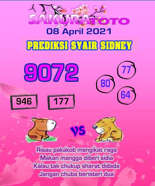 Prediksi Sakura Toto Sidney Kamis 08 April 2021