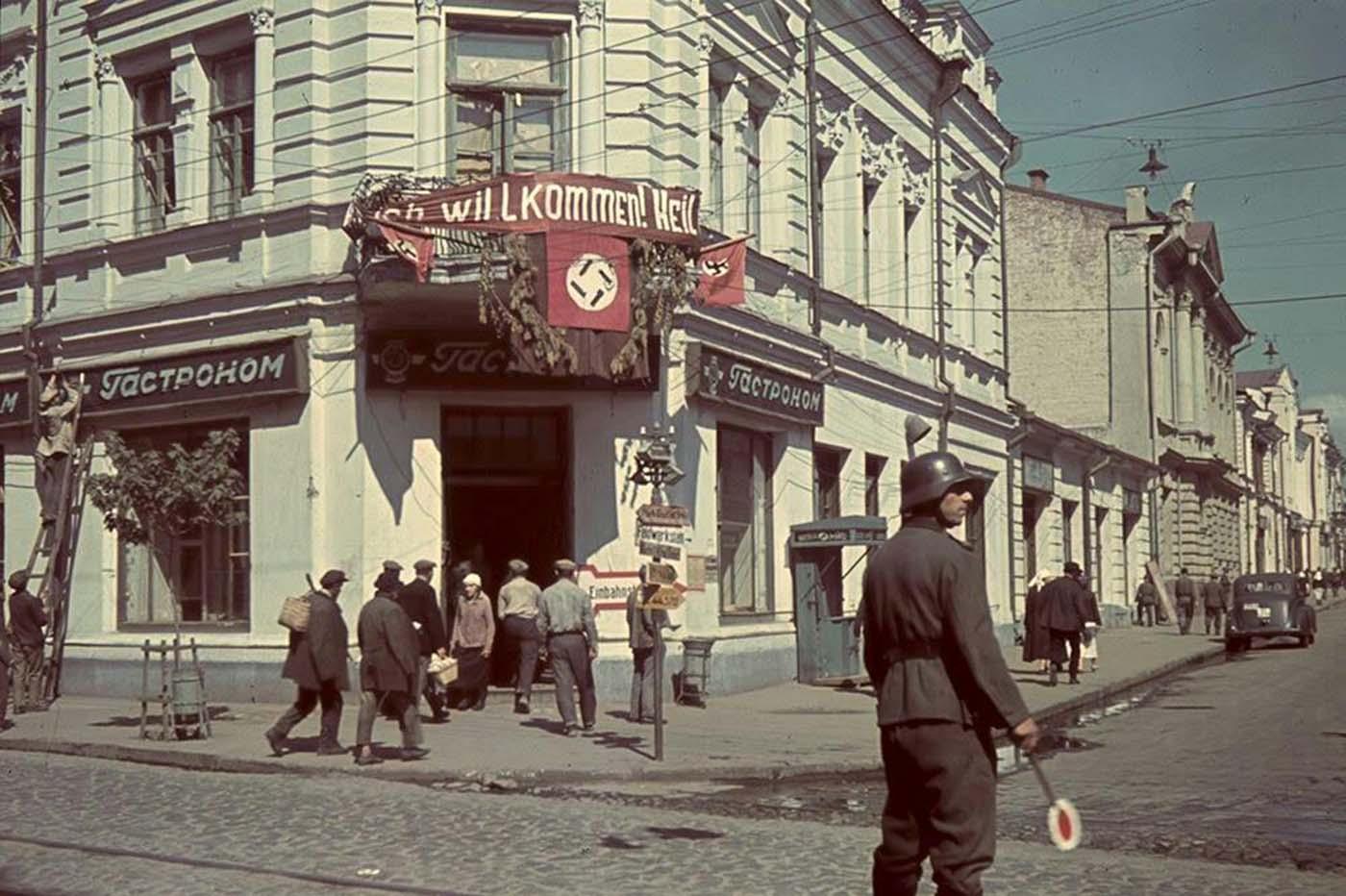 Director de tráfico alemán, Kharkov, Ucrania.