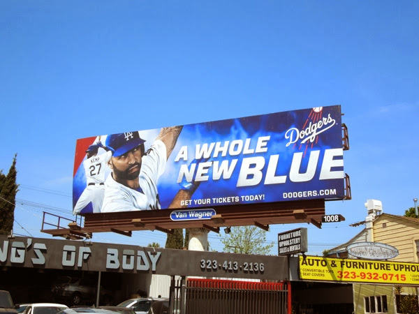 Dodgers whole new blue billboard Apr 2013