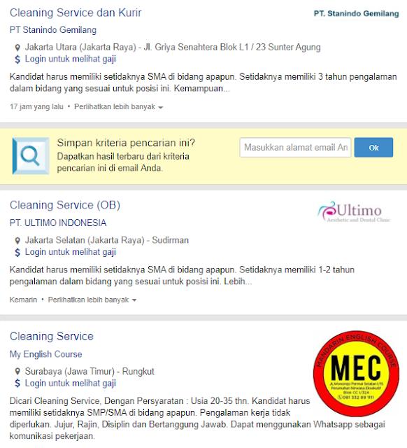 54+ Lowongan Kerja Cleaning Service Gaji UMR 2020 Terbaru Hari Ini