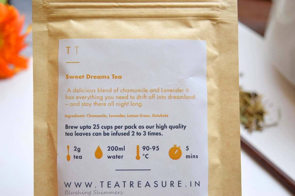 Tea Treasure Sweet Dreams Tea
