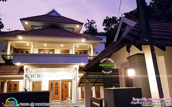 Finished Kerala home design with 4 bedrooms