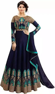 Fashions Women's Embroidered Phantom Slik Semi Stitched Anarkali Gown (Pink and Green_Free Size)     M.R.P.: ₹ 3,199.00   Price: ₹ 649.00 + 75.00   Delivery charge Details  You Save: ₹ 2,550.00 (80%)  Inclusive of all taxes        Fashions Women's Embroidered Phantom Slik Semi Stitched Anarkali Gown                Click to Buy this Product         Product Details: Style ; Anarkali Dress ; Long Gown  Fabric :- Phantom Silk, Color :- Blue & Green, Work :- Heavy Embroidery, Dupatta :- Yes  Wash Care :- Dry Clean Or Normal Hand wash  Disclaimer :- Product Color May Slightly Vary Due To Photographic Lighting Sources Or Your Monitor Settings