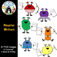 Monster Writers Clip Art