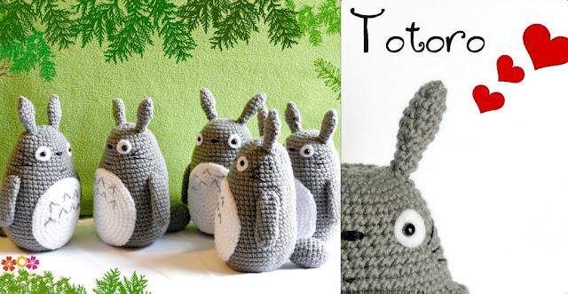 mi vecino totoro amigurumi crochet