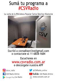 Sumá tu programa a CSV Radio