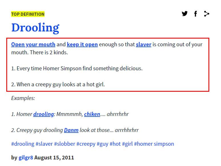 Arti Drooling Menurut Kamus Urban Dictionary