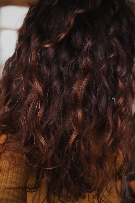 Résultat masque hydratant naturel pour les cheveux à la compote et poudre d'orange
