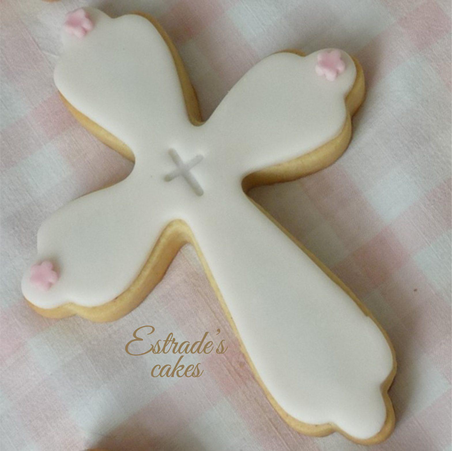 galletas para una primera comunión - cruz 2
