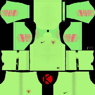 Indonesia 2018 goalkeeper Nike Kit - Dream League Soccer Kits