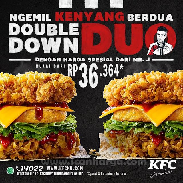 KFC Double Down Duo Mr J Promo Paket Rp 36.364