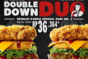 KFC Double Down Duo Mr J Promo Paket Rp 36.364