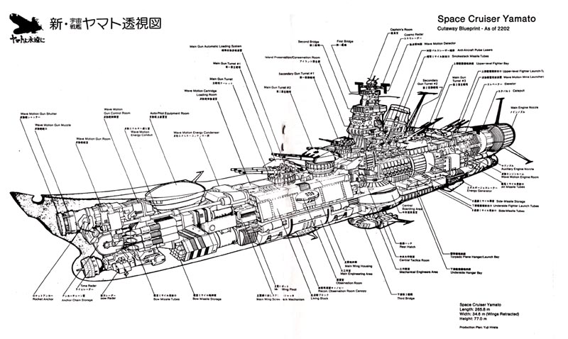 Space Battleship Yamato Blueprints