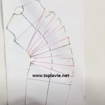 تفصيل و خياطة فستان بكسرات جانبية