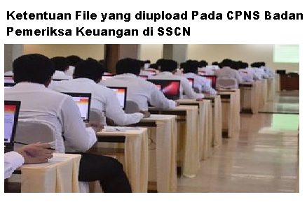 Ketentuan File yang diupload Pada CPNS Badan Pemeriksa Keuangan di SSCN