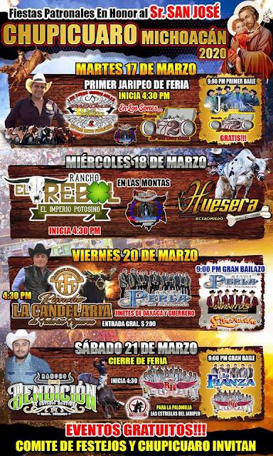 fiestas patronales chupícuaro 2020